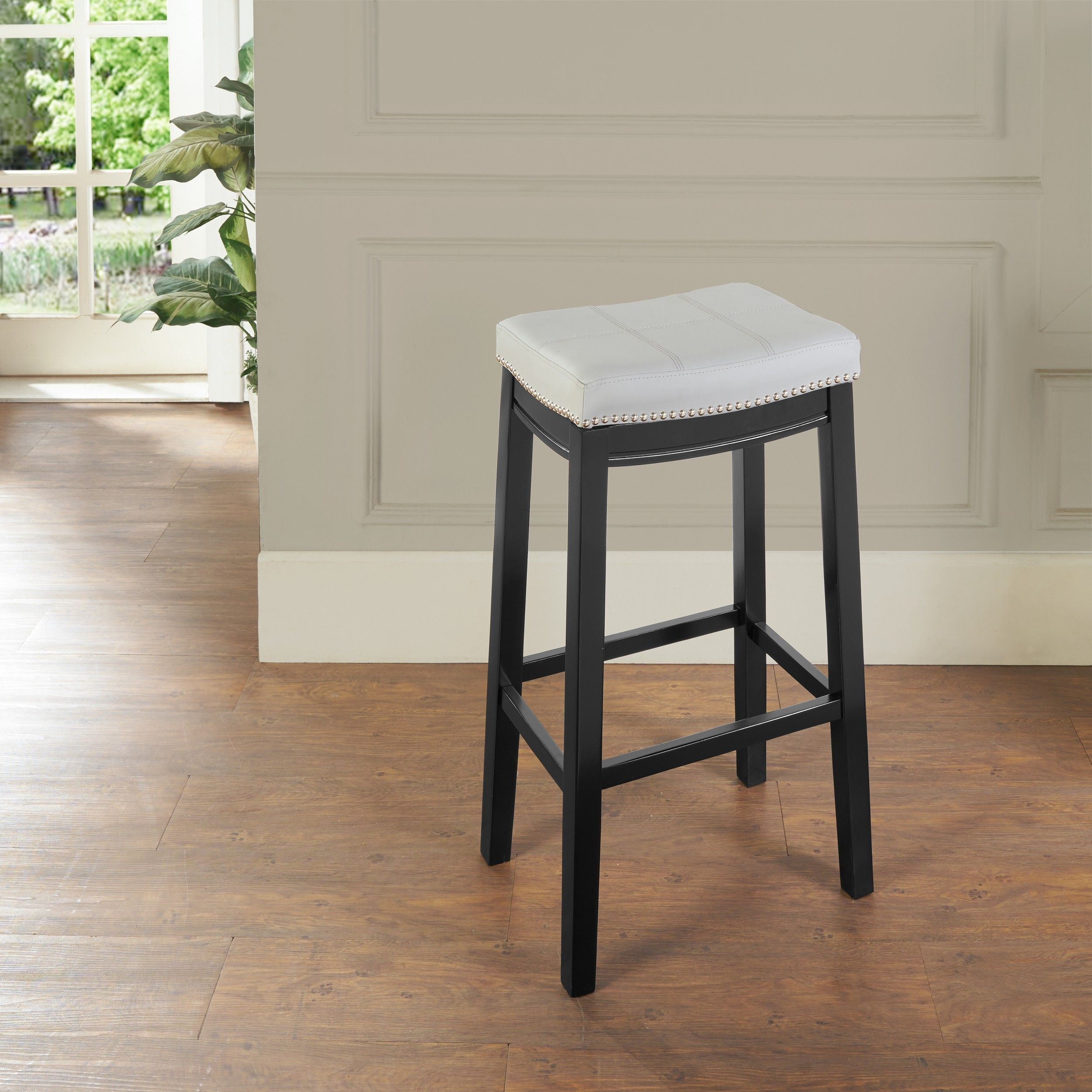 Lowest Price On Linon Home Decor Products Inc Claridge Multi Color Bar Stool Bs219gry01u