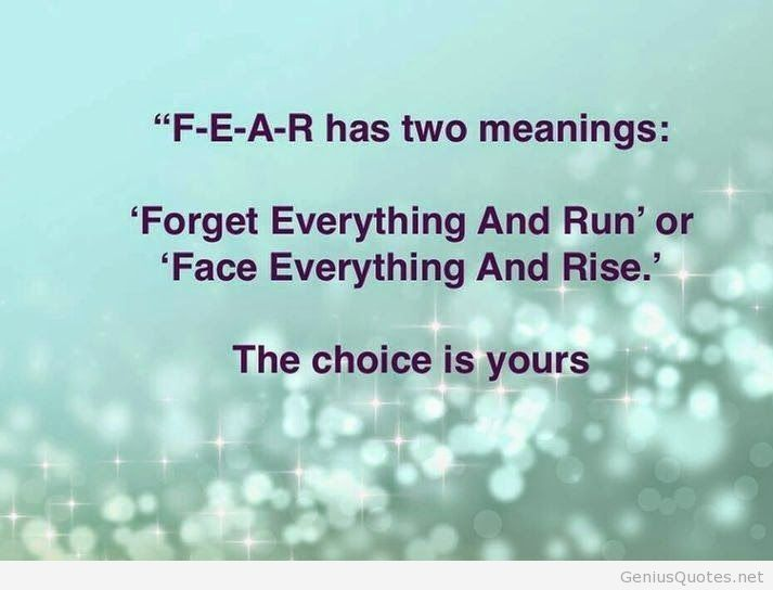 Two meanings of FEAR sayings hd wallpaper
