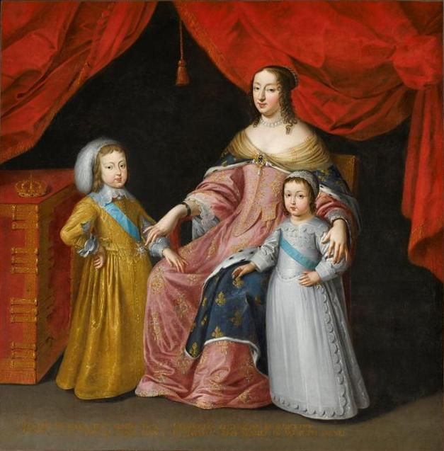 Anne with her sons,Louis and Philippe.Anne d'Autriche, régente ...