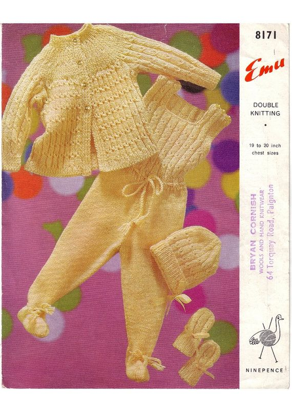 Knit Pattern Baby S Pram Set Coat Romper Suit Hat Baby