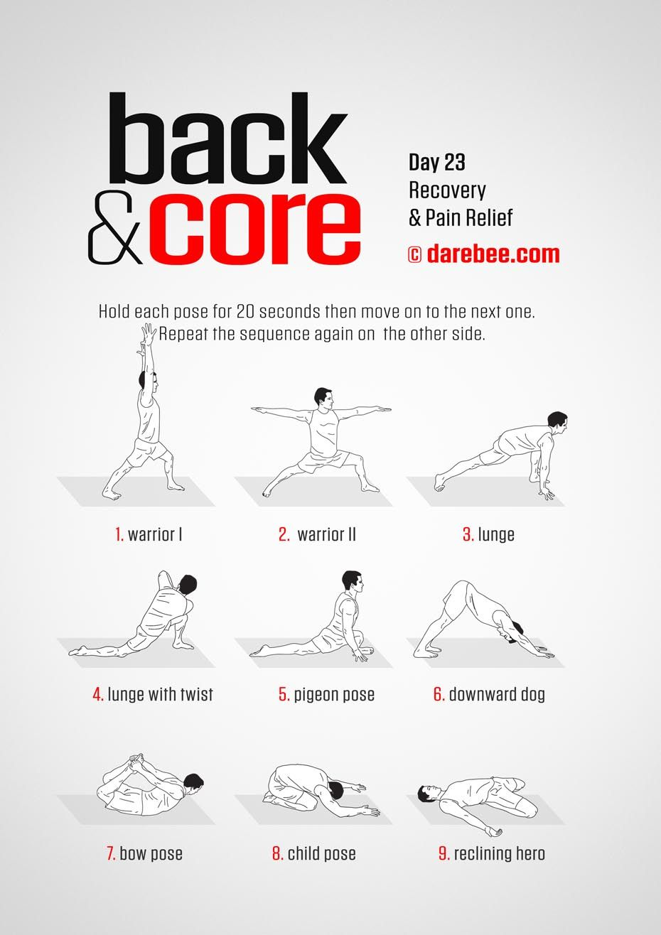 Back and Core 30 Day Program by DAREBEE Best abdominal