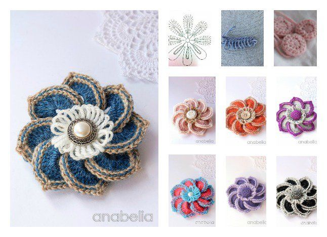 Free Beautiful Crochet Brooch Pattern In 2018 Freecrochetpatterns