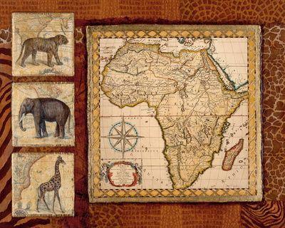 Afrikanischer Einfluss (Dekorative Kunst) Poster bei AllPostersde - wohnzimmer ideen afrika