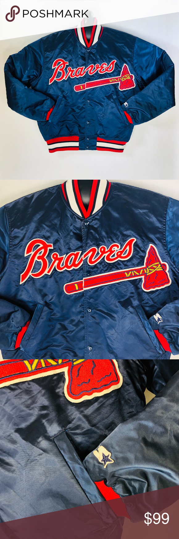 Starter Diamond Collection Atlanta Braves Jacket L Atlanta Braves Jackets Braves