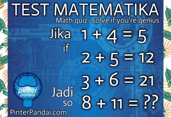 Quiz Matematika Jenius Matematika Pendidikan Belajar