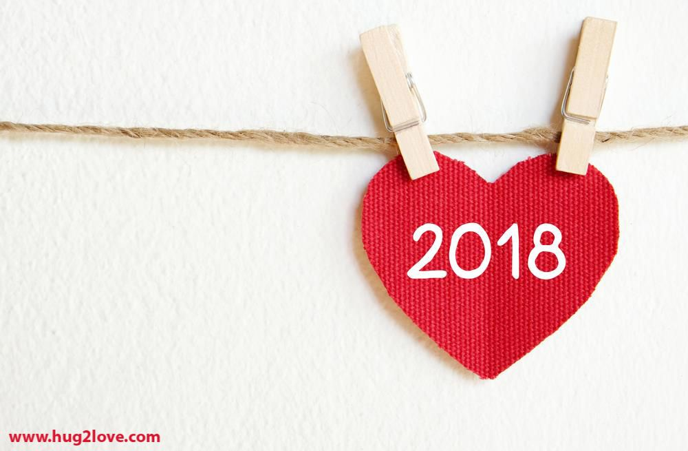 cute lovely new year 2018 wallpaper red heart