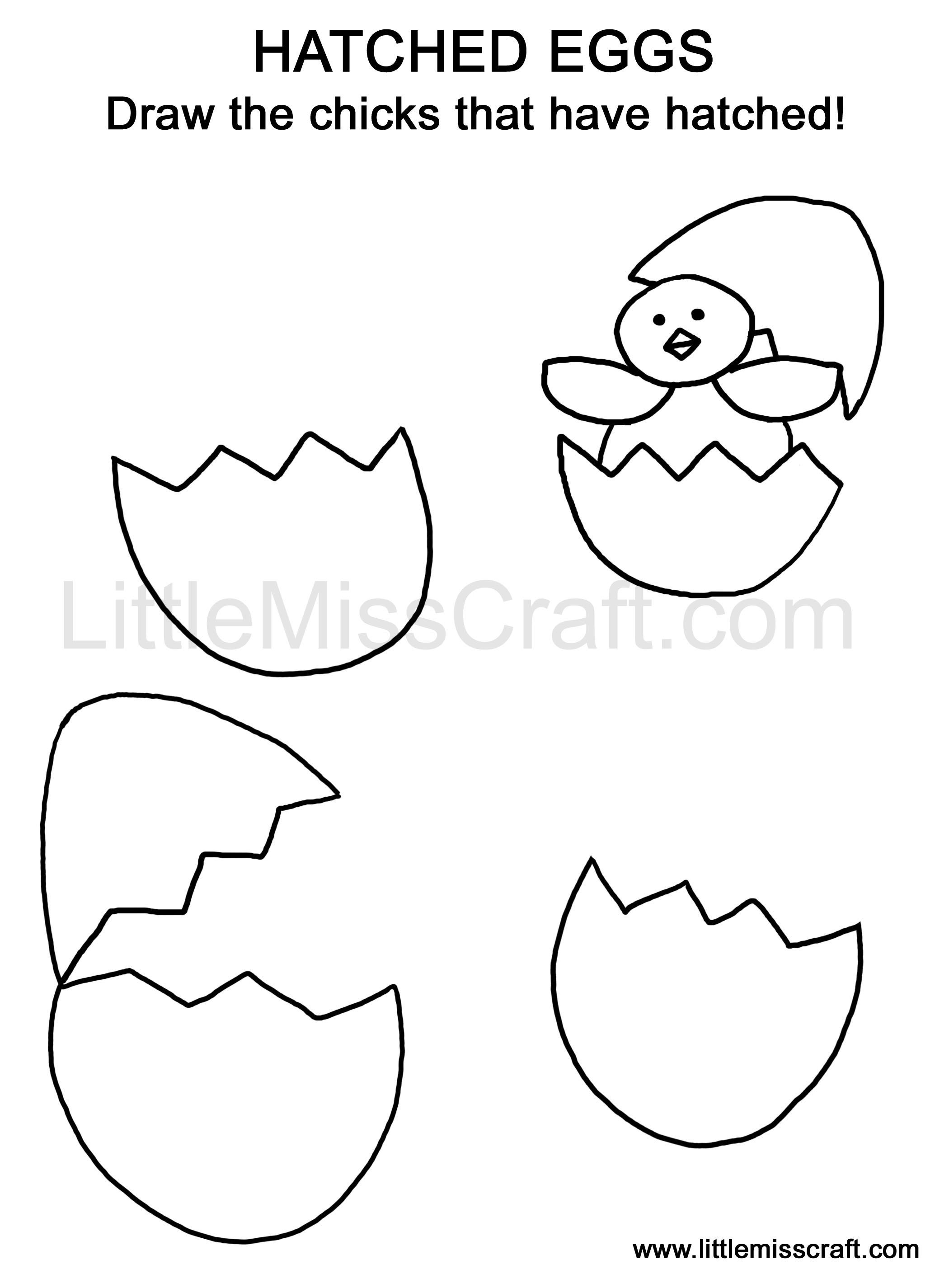 Draw The Chicks That Have Hatched Doodle Coloring Page Ready To Print At Littlemisscraft Egg 230 1