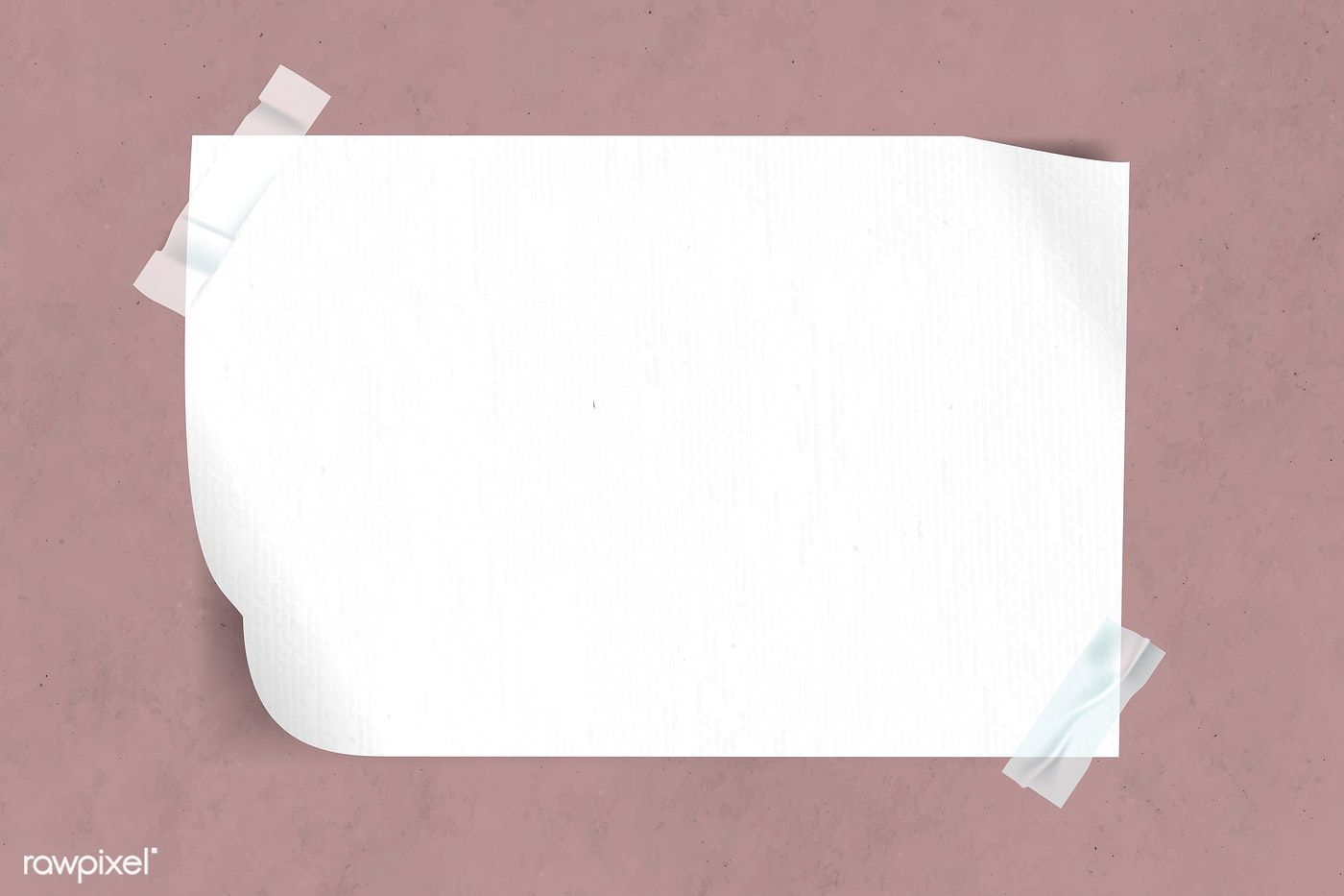 Download Premium Vector Of Blank White Paper Taped On Pink Background Paper Tape Paper Background Texture Powerpoint Background Design
