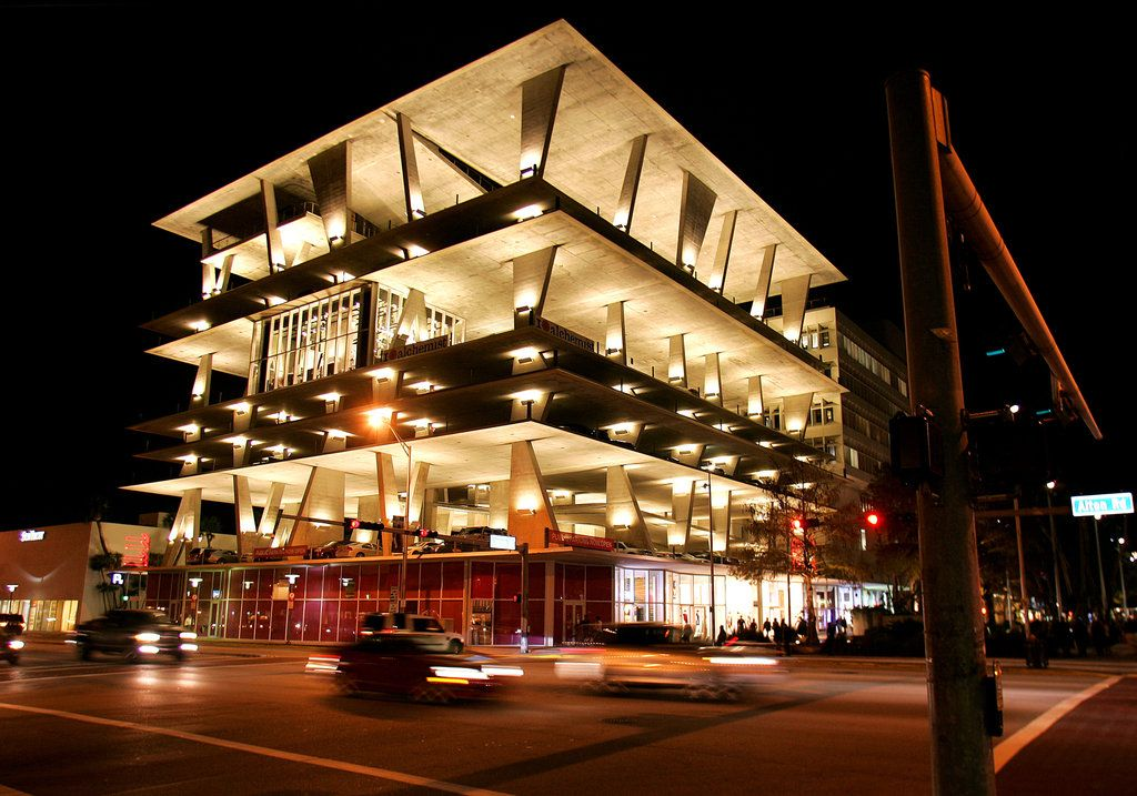 A Miami Beach Event Space Parking Space Too Architecture Architecture Design Parking Space