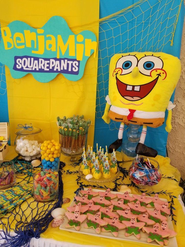 spongebob candy table spongebob bday in 2019 birthday party rh pinterest com