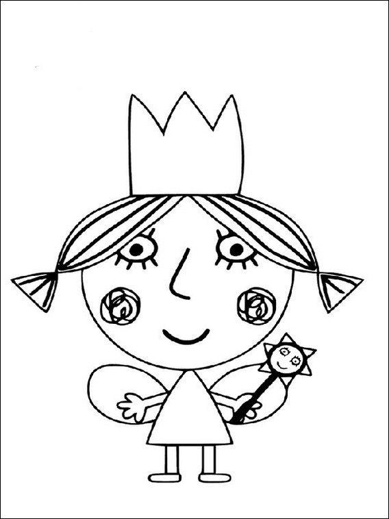 Image result for dibujos para pintar de ben y holly | ben ...