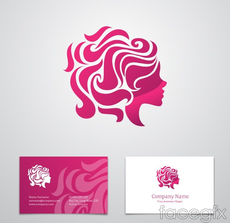 Free download Woman\'s head logo business card vector . Free vector ...