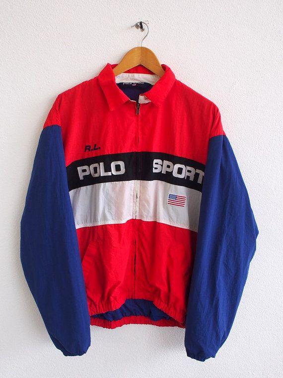 2781bf38 POLO Sport Windbreaker Jacket Large Vintage Ralph Lauren Rl 67 ...