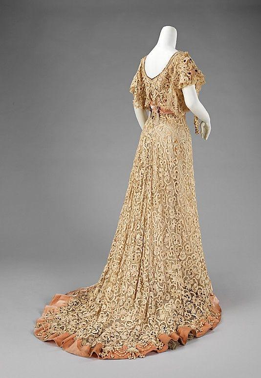 Charles Klein, Irish-crochet evening dress, French, early 1900s ...