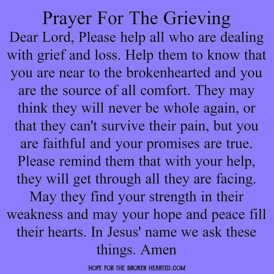 Prayer Quotes For Death In Family: Prayer For The Grieving …