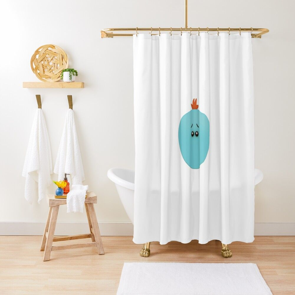 Mr Meeseeks 3d Rick And Morty Shower Curtain By Mattkc Blue