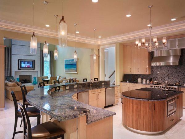 Барная стойка и рабочая зона | Круглая кухня, Дизайн ...