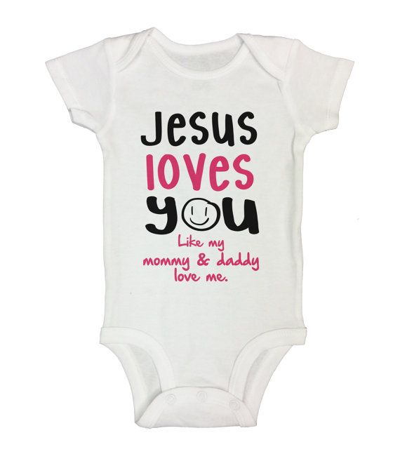 Cute baby girl onesie jesus loves you like my mommy daddy love cute baby girl onesie jesus loves you like my mommy daddy love me negle Gallery