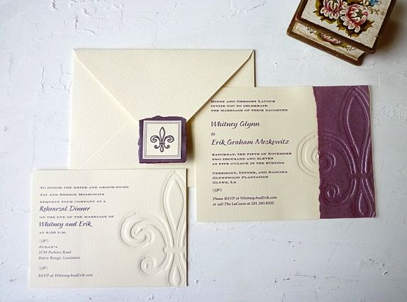 Awesome Fluer De Lis Wedding Invitations | Wedding Invitation Fleur De Lys Wedding  Invitation Destination Wedding .
