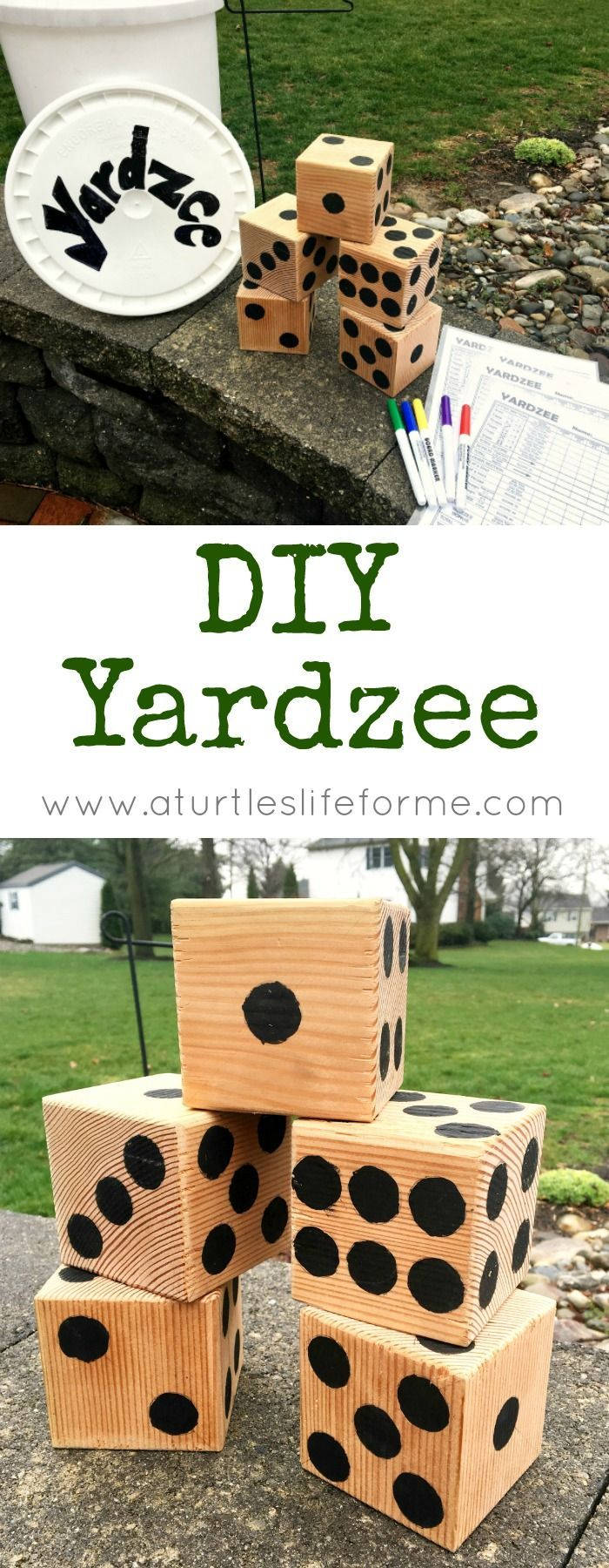 How To Make A DIY Yardzee Backyard Game