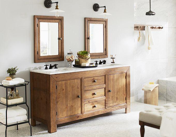 Decorating Ideas For Small Bathrooms Wood Bathroom Vanity