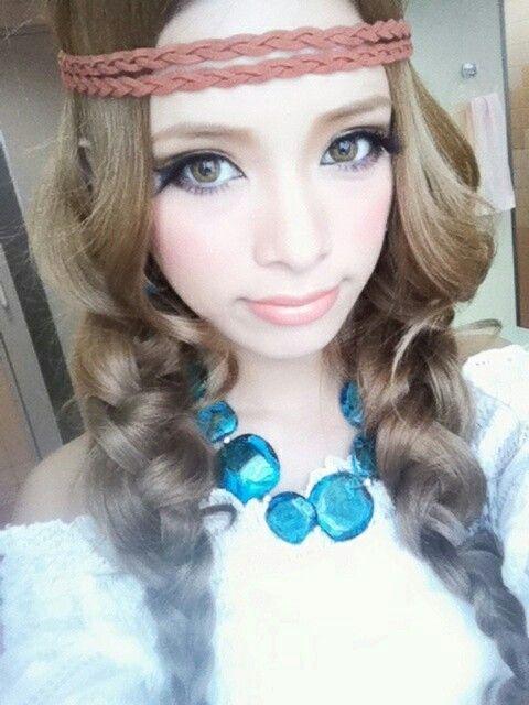 Gyaru makeup Coiffures japonaises, Coiffure et Cheveux