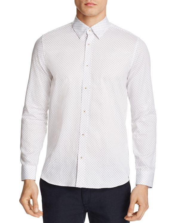 Ted Baker Bugzy Geometric Regular Fit Dress Shirt - 100% Bloomingdale's Exclusive