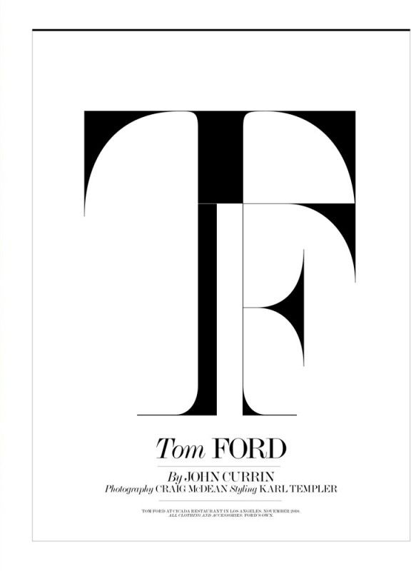 Tom Ford By Craig Mcdean For Interview Magazine Feb 2011