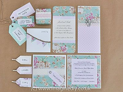 DIY Shabby Chic Wedding Stationery HOw To Make Your Own Vintage Style
