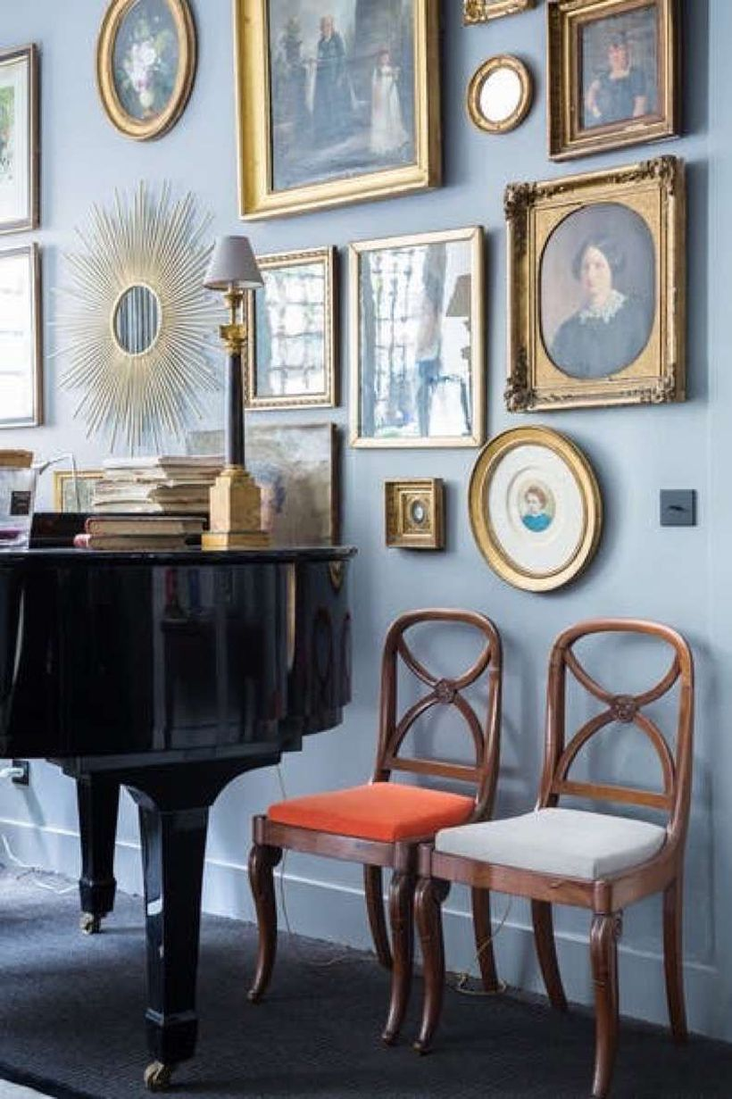 42 Luxury Wall Gallery Ideas For Perfect Wall Decor   Elegant home decor, Gold frame gallery ...