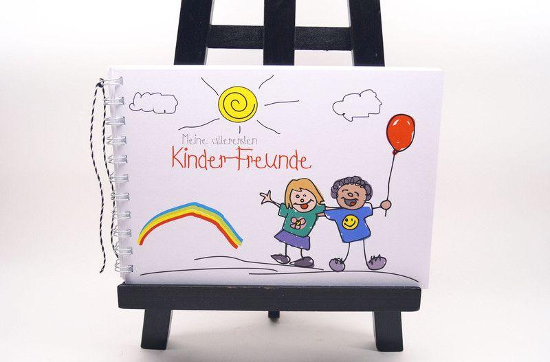 Für Kinder - Freundebuch Kindergarten allererste Kinderfreunde - ein Designerstück von Kestadt bei DaWanda