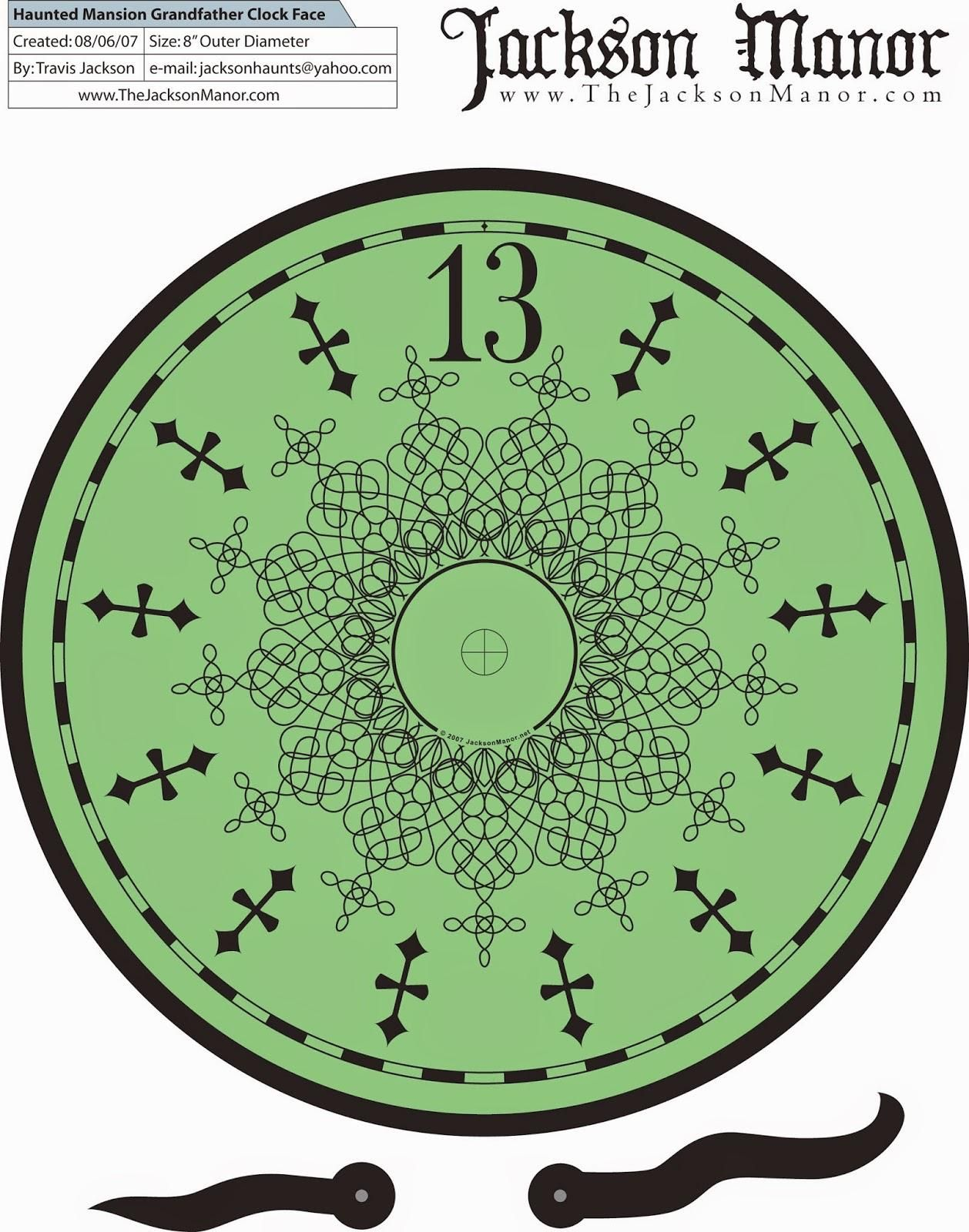 Disney Printable Haunted Mansion Clock Face Double Click Photo Once You Are On The Source Page