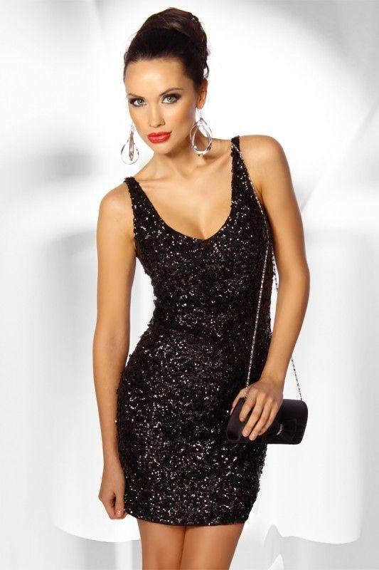 Pailletten #Minikleid schwarz | Kleider für Damen | Pinterest ...