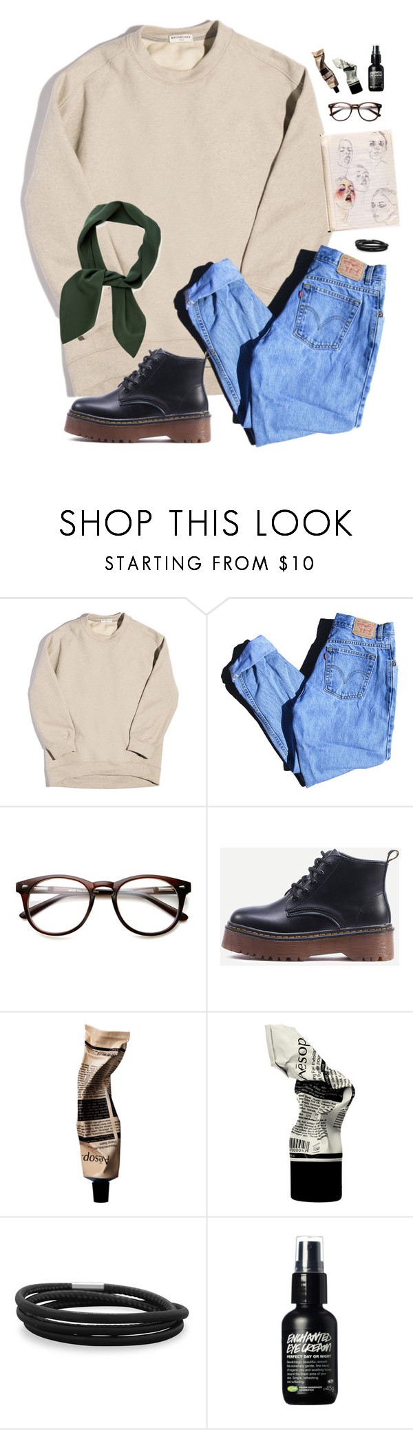 """""""park doodles"""" by preppysoutherners ❤ liked on Polyvore featuring Balenciaga, Levi's, Aesop, BillyTheTree and Chloé"""