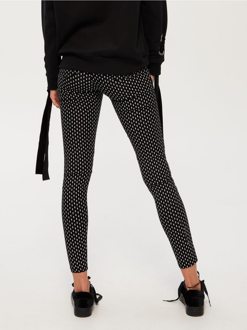 Z2018 Grube Legginsy Z Nadrukiem Trousers Women Printed Leggings Pantsuit