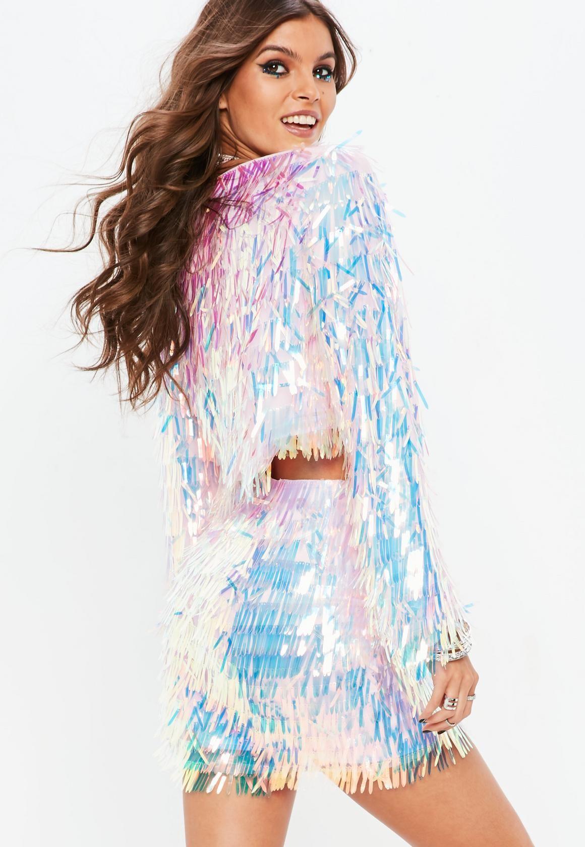 5f94454bd7b5e Pink Iridescent Sequin Jacket