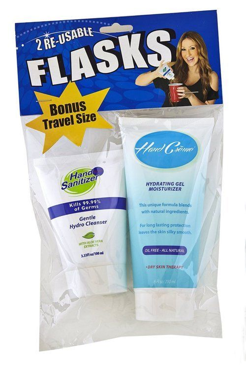 Smuggle Your Booze Hand Creme Hand Sanitizer Flask Combo Pack In