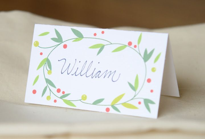 christmas place cards or labels