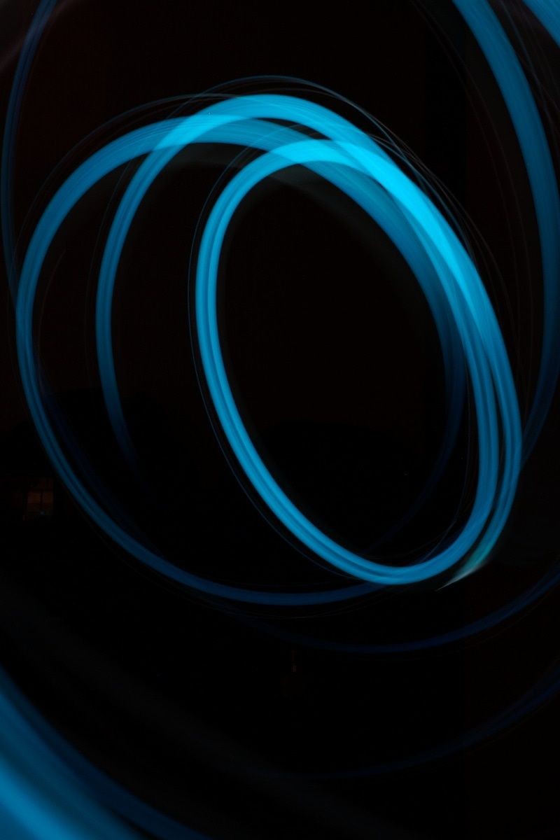 Blue Whirl Illustration · Free Stock Photo