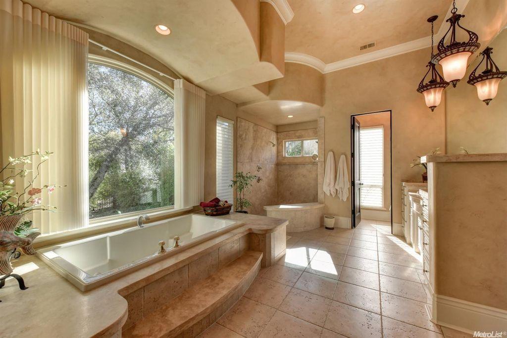 Traditional Full Bathroom with Kensington Brown, Glazed Porcelain ...