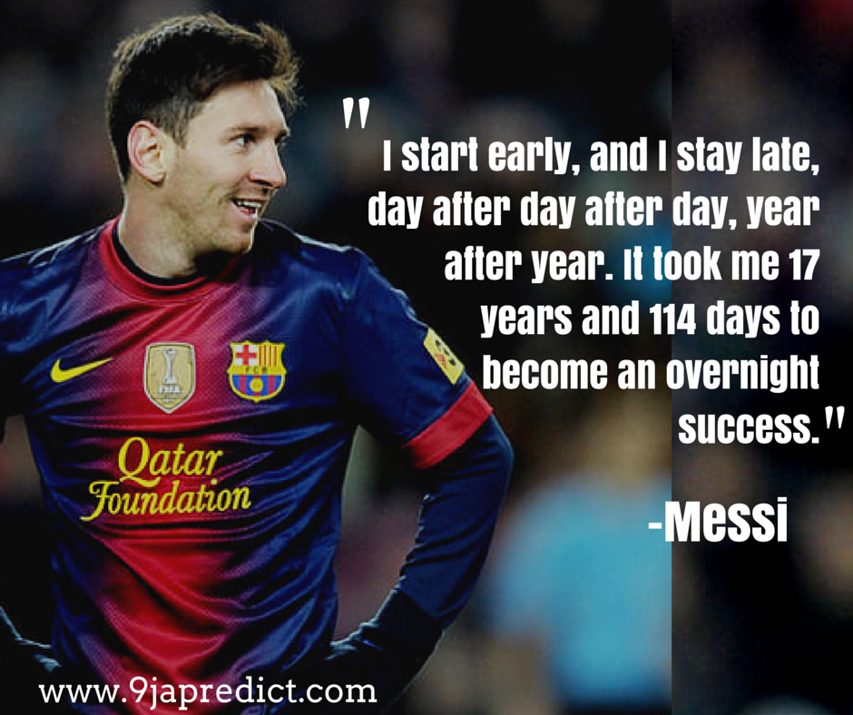 Famous quote by the best footballer of all time #Messi ...