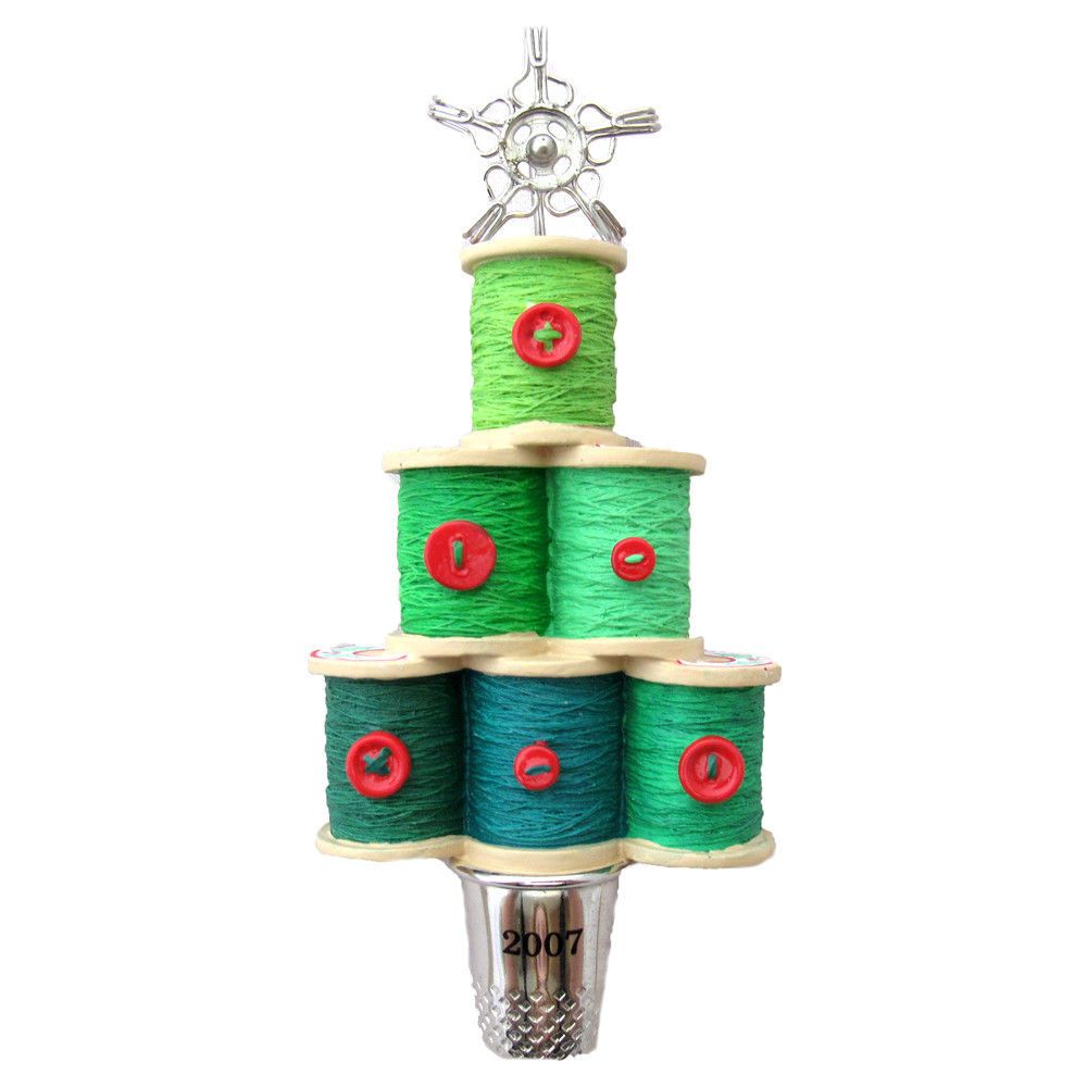 Thread Christmas Tree: Sewing Thimble Thread Notions Of Christmas Hallmark
