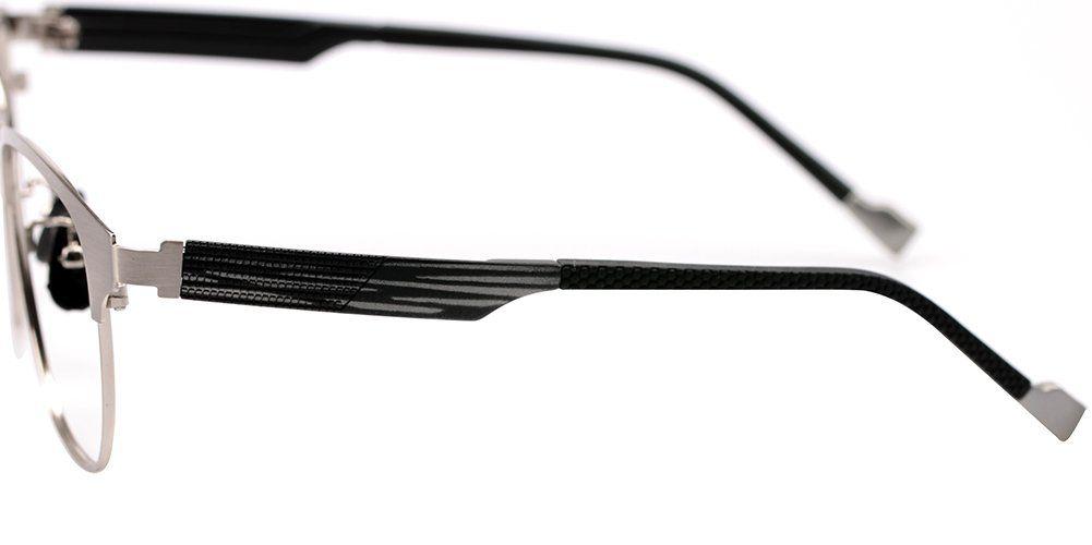 dcd70a1d62b40 SOOLALA Retro Design Clubmaster Clear Lens Eyeglass Frame Quality Reading Glasses  ClearLens Silver