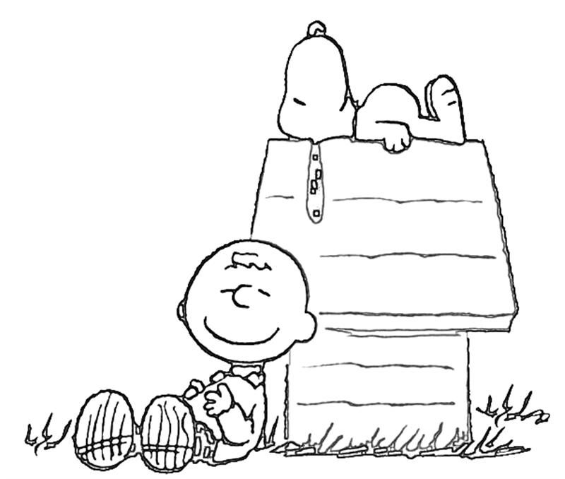 free coloring page of snoopy on his house | Printable Snoopy The ...