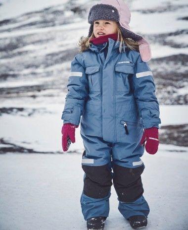Didriksons Migisi Kids Snowsuit Coldsmoke Blue Kids