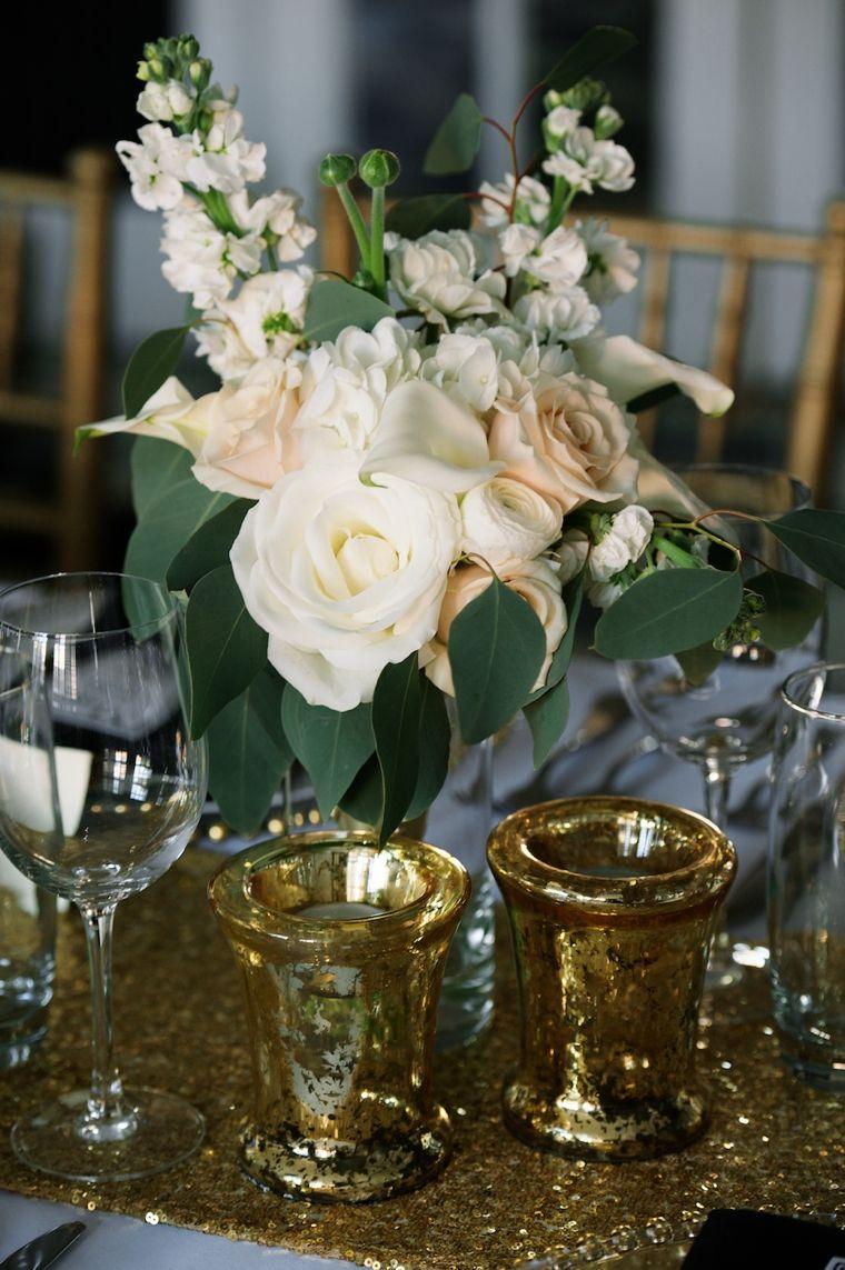 Wedding decorations black and gold  Modern Black and Gold Wedding Ideas  gold  Pinterest  Wedding