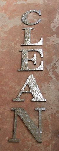 Hammered Metal Letters Faux Hammered Metal Tutorial  Metals Tutorials And Bedrooms