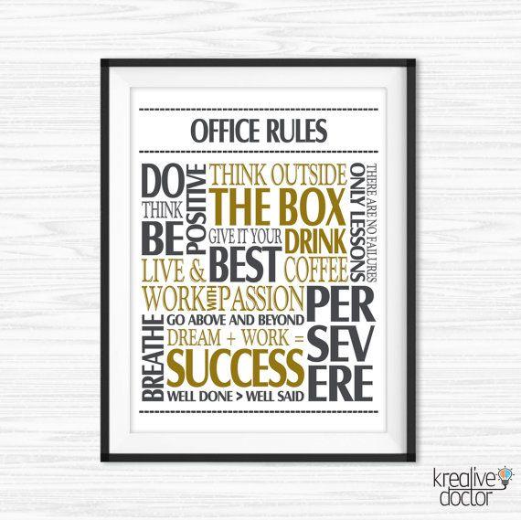 Admirable Office Wall Art Motivational Wall Decor Inspirational Quote Inspirational Interior Design Netriciaus