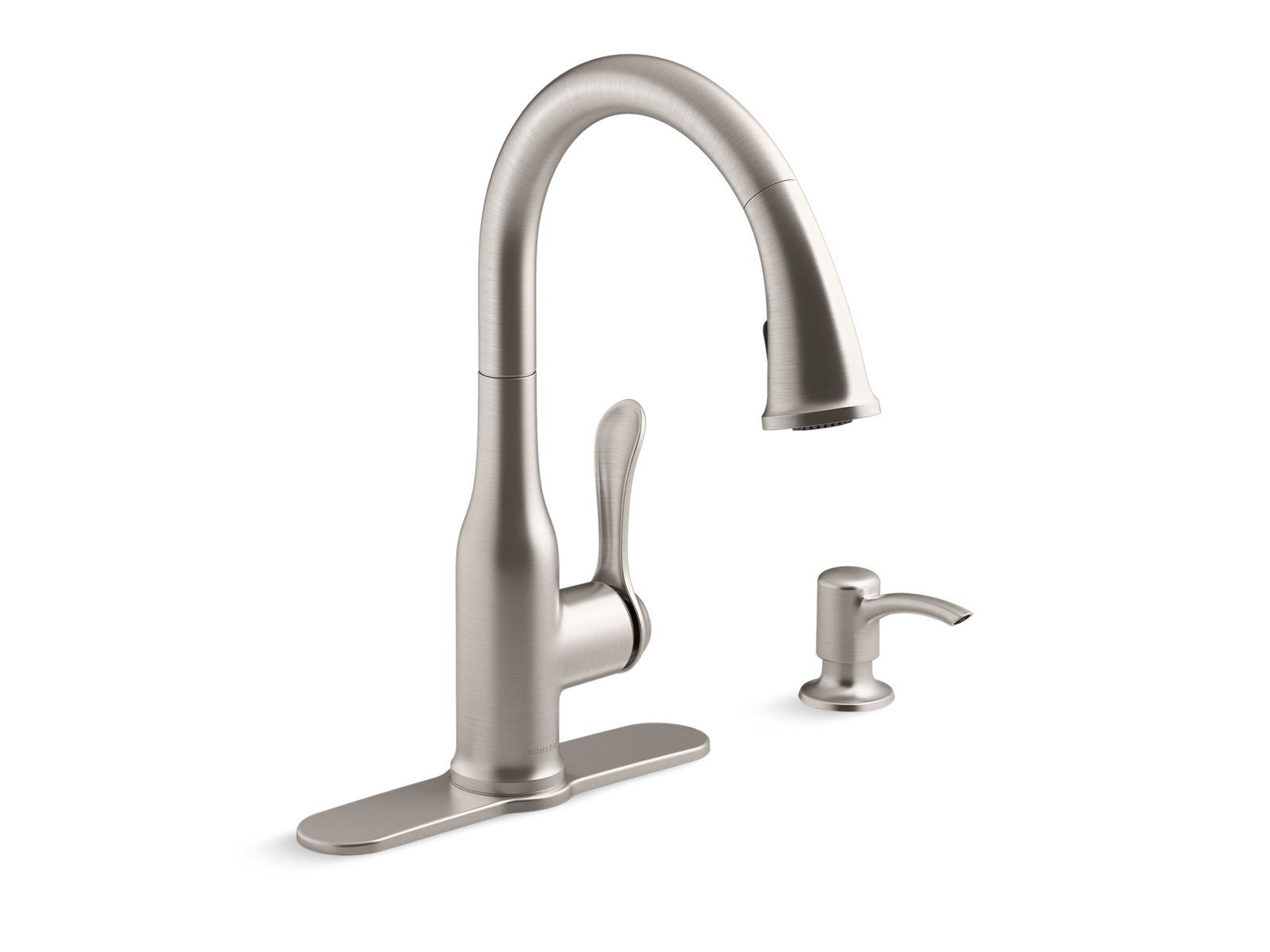 K R23863 Sd Motif Pull Down Kitchen Faucet With Soap Dispenser