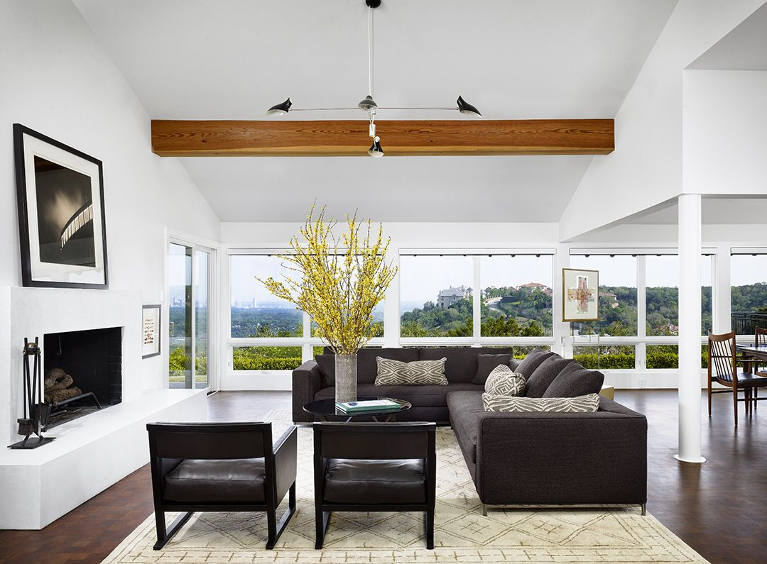 Modern Ranch House Living Room | Mark Ashby Design | Interiors ...